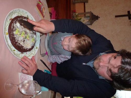 gâteau d'anniversaire, chocolat