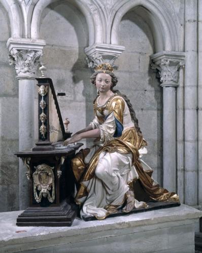 hoyau, sainte cécile à l'orgue, saint julien du mans
